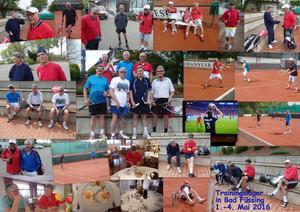 Trainingslager in Bad Füssing der Herren 65 vom TSB Tennisclub Horkheim Fotograf: Hans Teubner, Ort: Bad Füssing