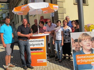 Thomas Strobl am Eppinger Infostand