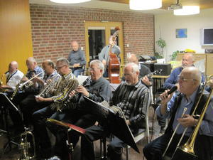 Die 'Frontline' der Friends of Dixieland bei der Jam-Session