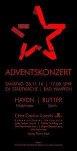 Adventskonzert 2016 - Plakat