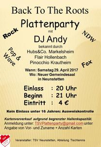 Plattenparty DJ Andy in Neunstetten