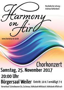 Chorkonzert mit Harmony on Air