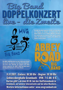 Big Band Doppelkonzert in der Schloßberghalle