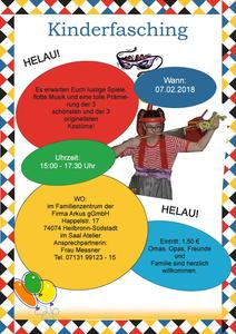 Kinder-Fasching 2018 bei ARKUS