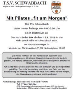 "Mit Pilates ""fit am Morgen"""