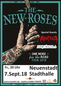 The New Roses, Maxxwell & Alpha Tiger live in der Stadthalle Neuenstadt