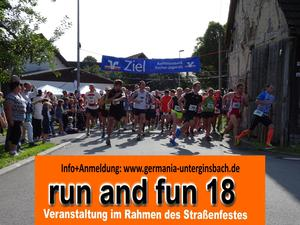 18. run-and-fun Unterginsbach (Krautheim/Jagst) Der Lauf und Walkingevent!