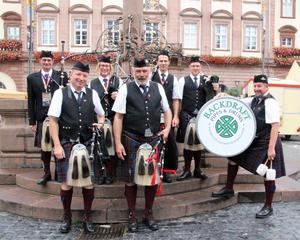 Die Backdraft Pipes and Drums in Heidelberg