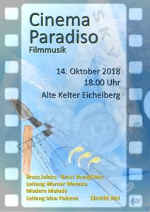 Cinema Paradiso – Filmmusik mit den Ensembles Brass Jokers, Brass Youngstars und Modern Melody