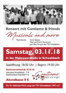 """Musicals and more"" mit Cantiamo und Friends"