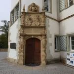 Renaissance Portal am Wasserschloss in Bad Rappenau.