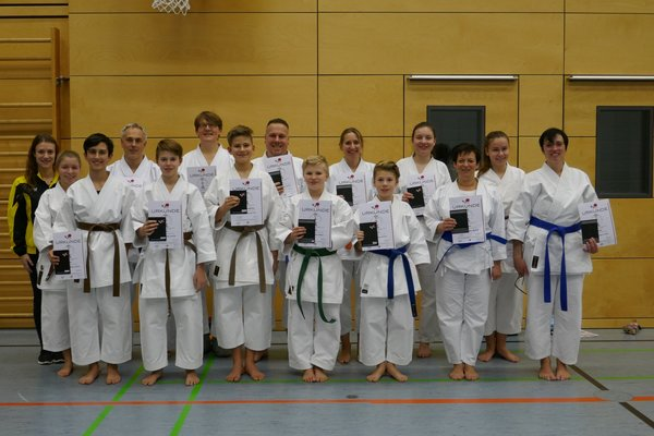 karate, prüfung, neudenau, it-franken