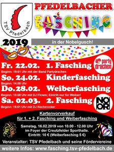 Pfedelbacher Kinder Fasching 2019
