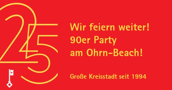 90er Party am Ohrn-Beach