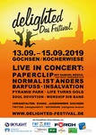 "Flyer ""delighted - Das Festival. 2019'"