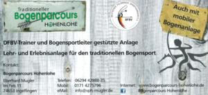 Flyer Bogenparcours Hohenlohe