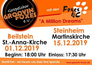 Adventskonzert der Groovin' Foxes und Foxes 4C in Steinheim