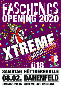 Faschingsopening in Dahenfeld mit XTREME
