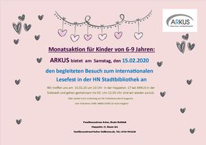 ARKUS Monatsaktion: Internationales Lesefest
