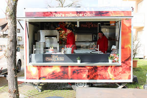 Food Truck in der Mittagspause